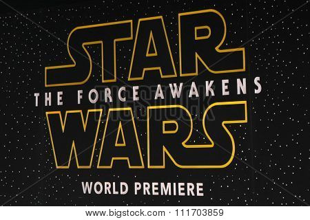 LOS ANGELES - DEC 14:  Atmosphere at the Star Wars: The Force Awakens World Premiere at the Hollywood & Highland on December 14, 2015 in Los Angeles, CA