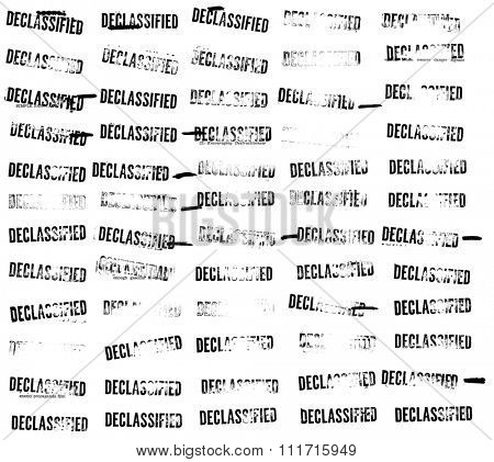 Sixty (60) declassified stamps and redactions from an official Cold War sabotage spy manual