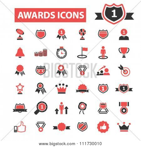 award trophy, awards icons, award concept, achievement, award ribbon, trophy, prize  icons, signs vector concept set for infographics, mobile, website, application