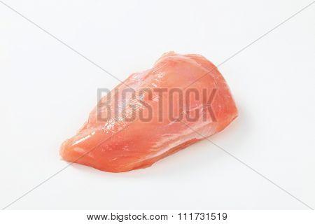 Raw skinless turkey breast fillet