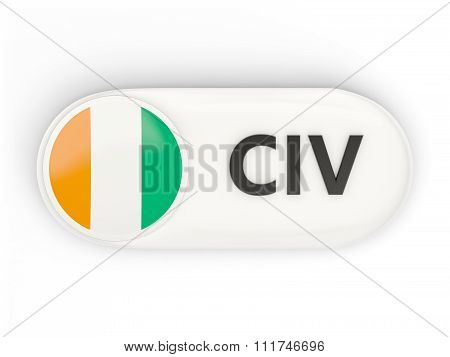 Round Icon With Flag Of Cote D Ivoire