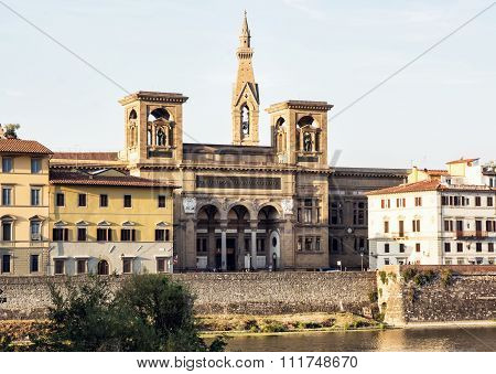 Historic Building Of National Central Library (biblioteca Nazionale Centrale Di Firenze) In Florence
