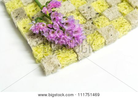 Statice Flower On Pumpkin And Sesame Bread, Good Meaning Flower--durable And Long Lasting Love