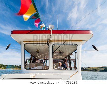 Niedzica - Czorsztyn, Poland - Wheelhouse Of Touris Boat