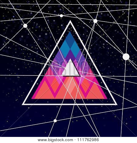 poster with triangles