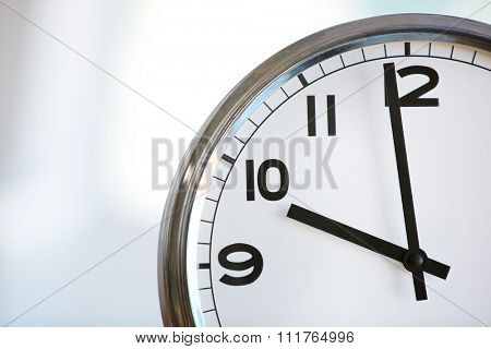 Ten o'clock on the white wall clocks