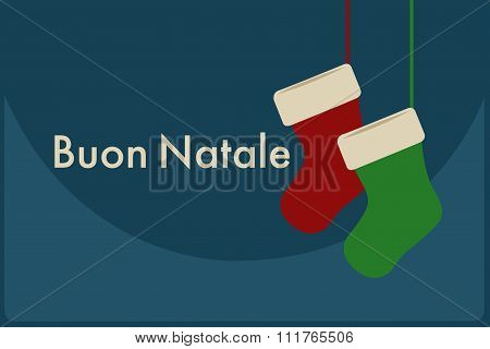Buon Natale Italian. Merry Christmas