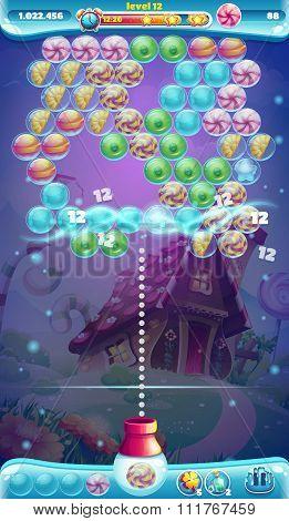 Sweet World Mobile Gui Game Window Bubble Shooter