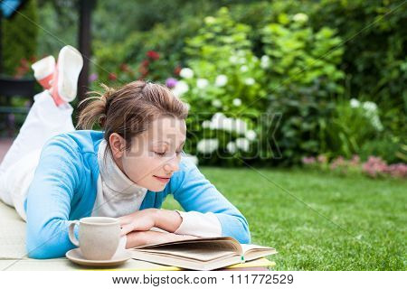 Woman reading a book
