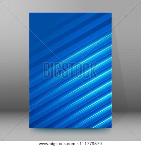 Band Light Blue Background Brochure Cover Page Layout