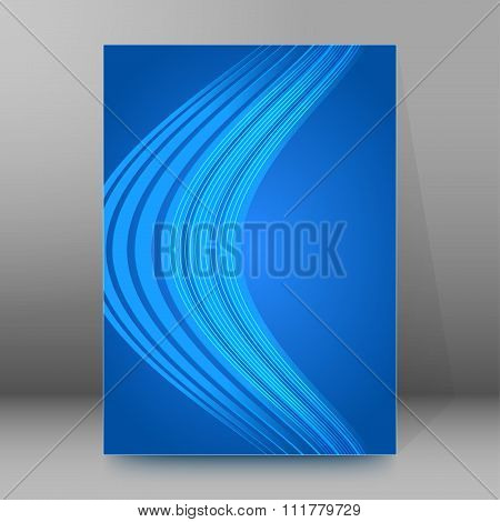 Bending Wave Effect Background Report Title Page Booklet