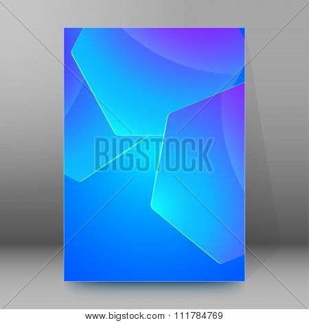 Blue Hexagon Pattern Cover Page Booklet Layout