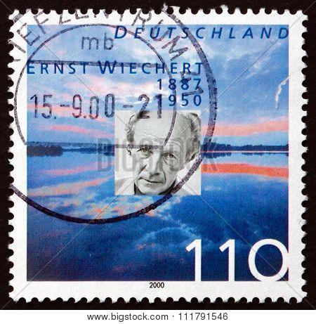 Postage Stamp Germany 2000 Ernst Wiechert, Writer