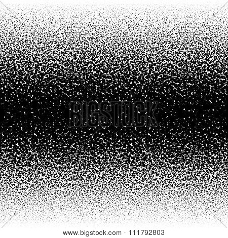 Spray paint splatter horizontally seamless vector illustration