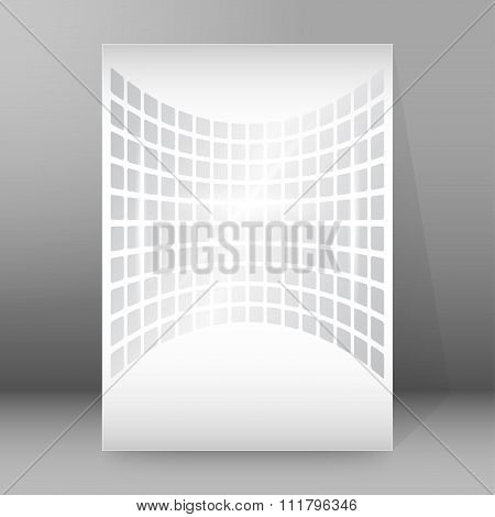 Gray Shapes Background Report Title Page Booklet Layout