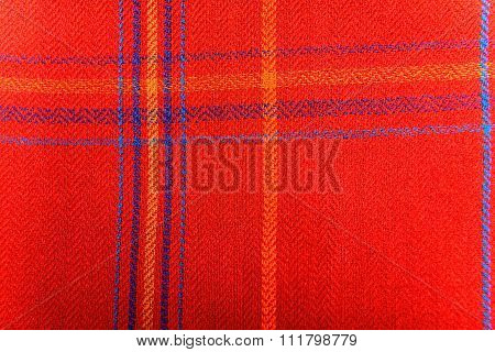 Red folded indian scarf isolated
