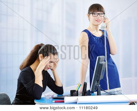 Two Collegues Women