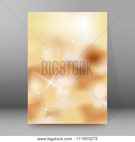 Holiday Background Blur Brochure Cover Page Layout