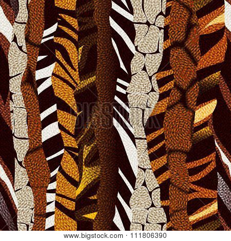 Animal strikes pattern in brown colors