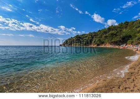 Beach at Budva Montenegro - nature travel background
