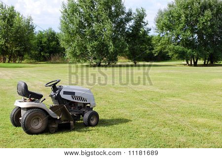 lawn mower on field