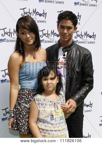 HOLLYWOOD, CALIFORNIA - June 6, 2011. Fivel Stewart and BooBoo Stewart at the Los Angeles premiere of