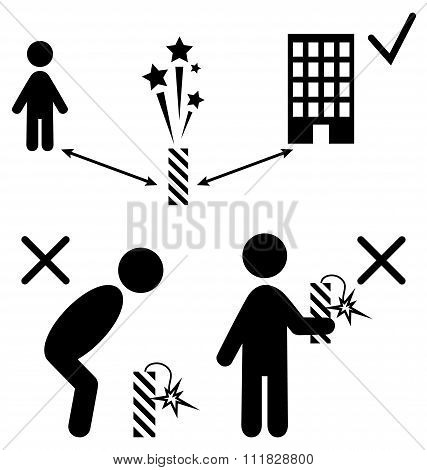 Set of Pyrotechnics Safety Precaution Measures Information Rules