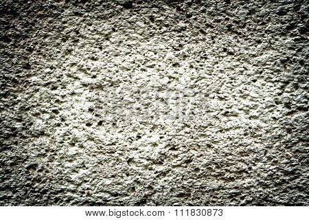 Grey Revetment Wall Putty Macro Texture Background High Contrasted With Vignetting Effect