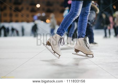 the girl on the figured skates