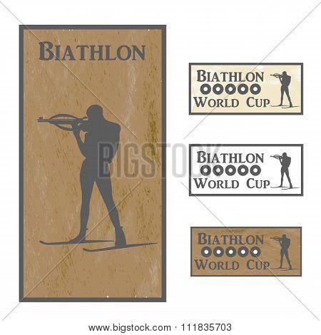 Monochrome logo Biathlon