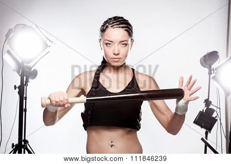 Girl With A Baseball Bat