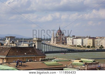 Construction Work In The City Budapest