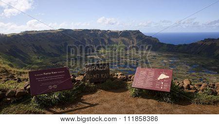 Hanga Roa, Ester Island, Chile - November 9, 2015: Orongo - Ritu