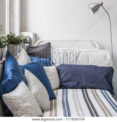 Cozy nook in boy's room