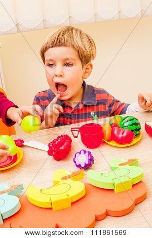 Children playing cooks