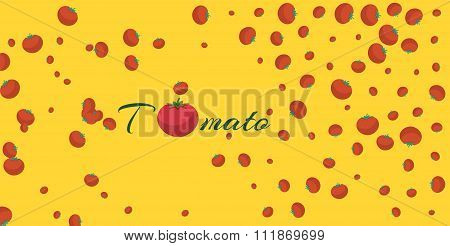 Tomato Background Banner