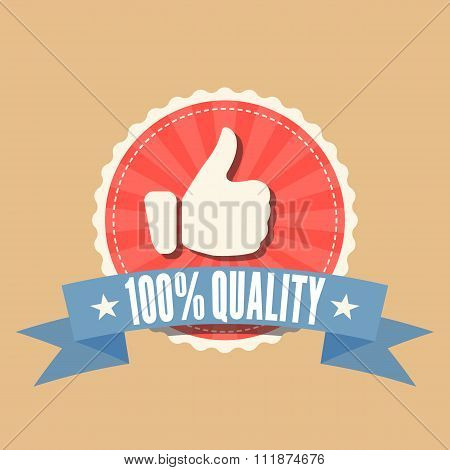 100% Quality sale badge