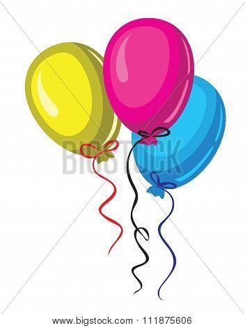 vector color baloon