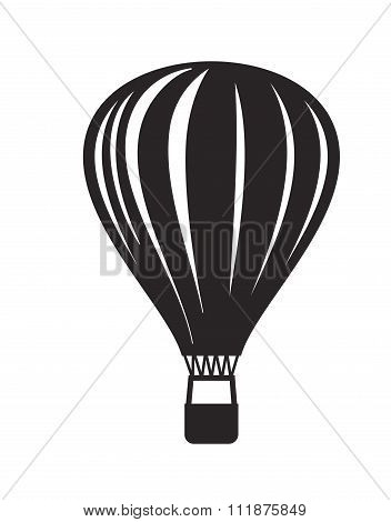 vector black Hot air balloon