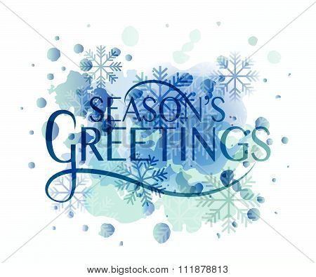Hand Sketched Season's Greetings Logotype, Badge And Icon Typography.