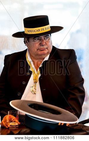 Man With Hat At Sanlucar De Barrameda