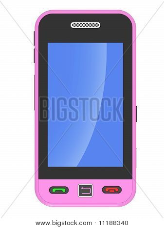 Pink 3D Smart Phone