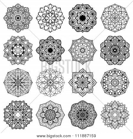 Set Of Mandalas.