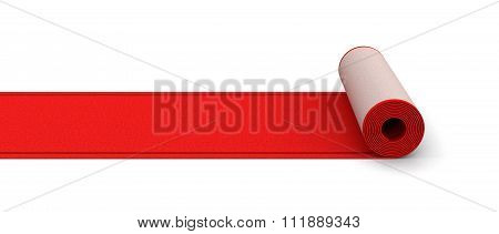 Red Carpet. Image with clipping path