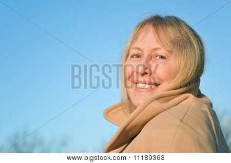 Happy smiling mature woman