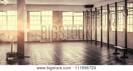 A shot of a gym in bright light