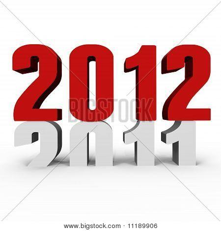 New Year 2012 pushing 2011 down