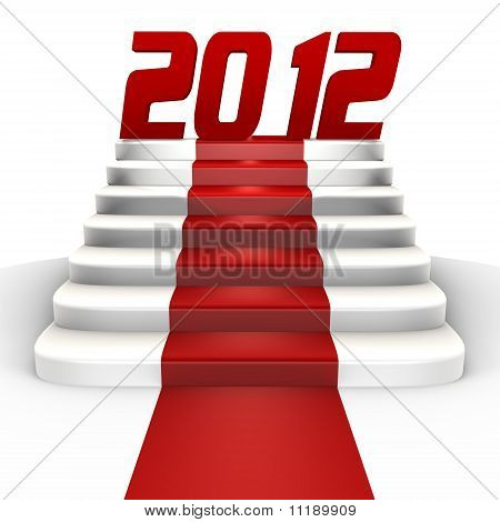 New Year 2012 on a red carpet