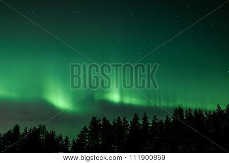 Green northern lights
