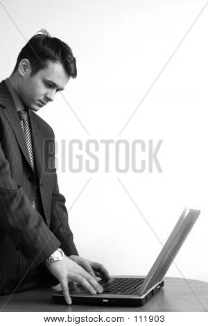 Consultant Concentrated On Laptop